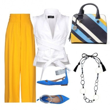 Outfit Yellow and blue