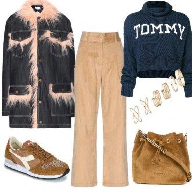 Outfit Urban con i velluti