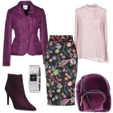 Outfit Chic con la gonna fantasia