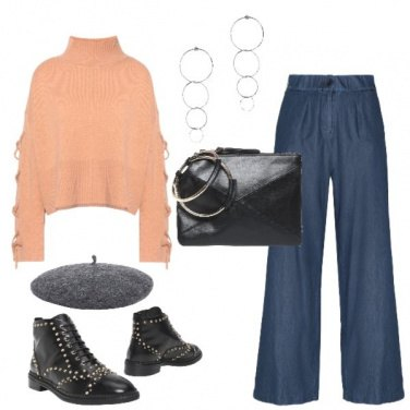Outfit Maglia ocra