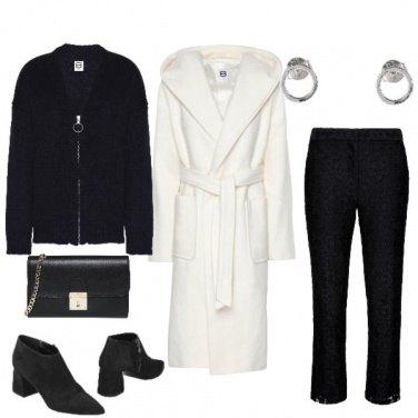 Outfit Bianco e nero alternati