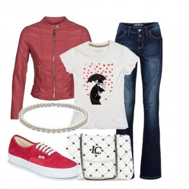 Outfit Perle e sneakers