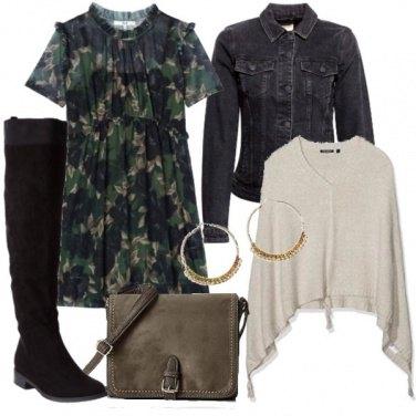 Outfit Jeans e mantella