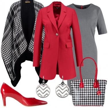 Outfit Adoro il pied de poule