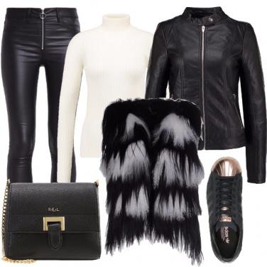 Outfit Un rock pratico e glamour
