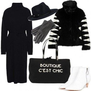 Outfit Bianco e nero tutto il giorno