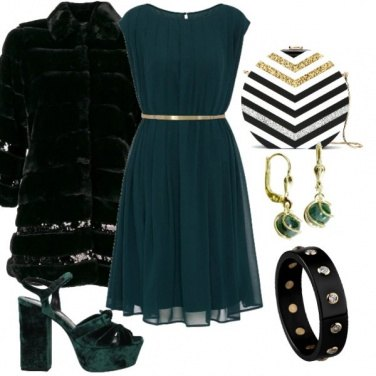Outfit Gold Green