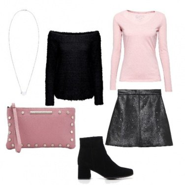 Outfit Black and pink.
