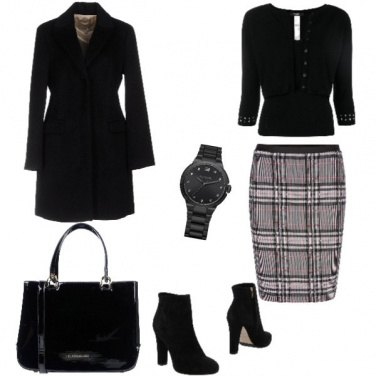 Outfit Trendy, tubino a righe, chic