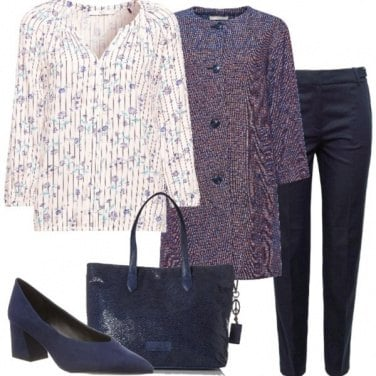 Outfit Blu e viola