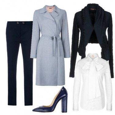 Outfit Il cappotto avvolgente