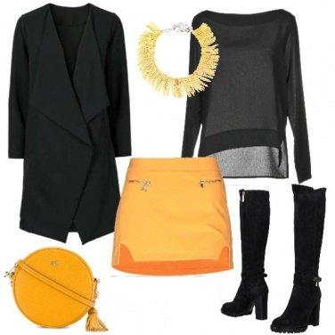 Outfit La minigonna gialla