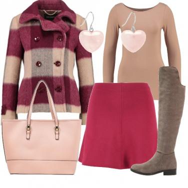 Outfit Quadrettoni e cuori