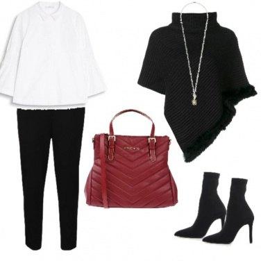 Outfit Il colletto bianco e la mantella