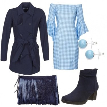 Outfit Celeste e blu