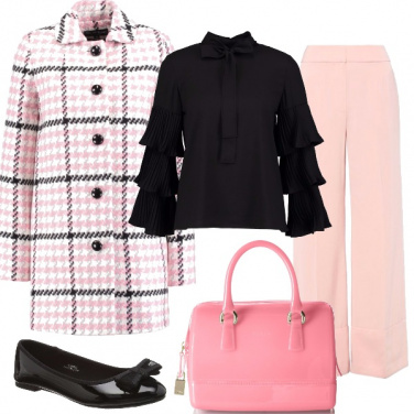 Outfit Scacchi rosa