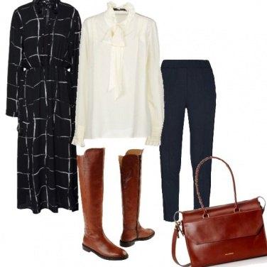 Outfit Cuoio e nero