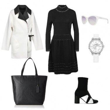 Outfit Chic bianco e nero