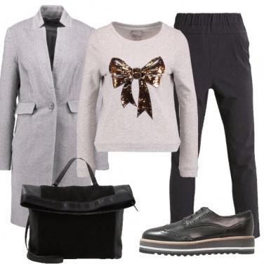 Outfit Maglione con il fiocco