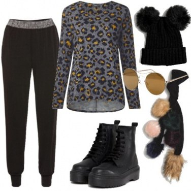 Outfit Urban e pompon