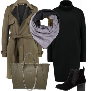 Outfit Trench e tronchetti