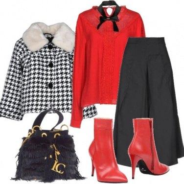 Outfit Giacca pied-de-poule,