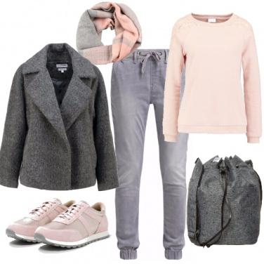 Outfit Rosa perla in comodità