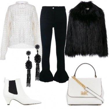 Outfit Bianco e nero trendy