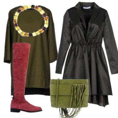 Outfit Vestito morbido verde