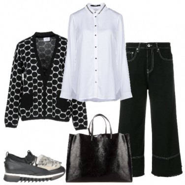 Outfit Camicia bianca evergreen