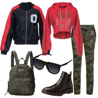 Outfit Bomber e camouflage