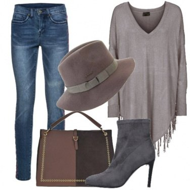 Outfit Bande laterali in stile etnico