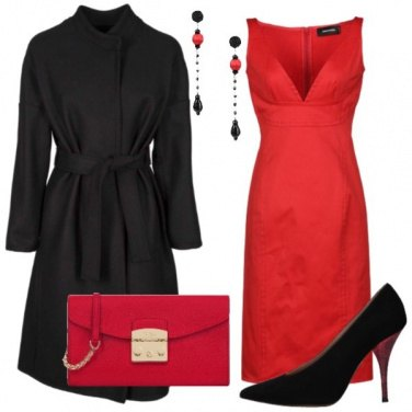 Outfit Rosso sensuale
