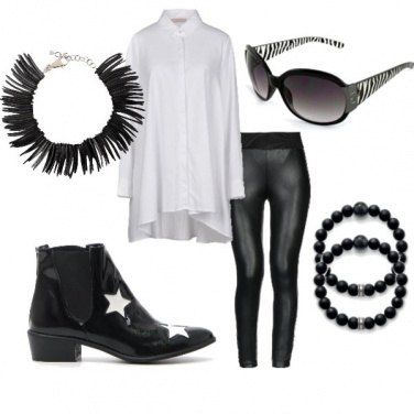 Outfit Black and Whithe