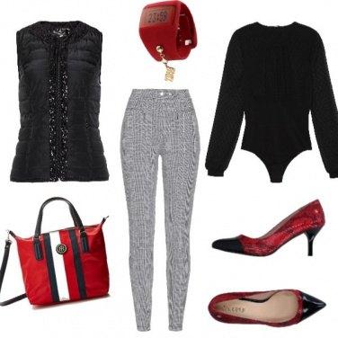 Outfit Rouge e noir