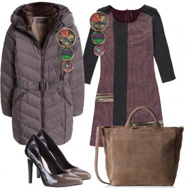 Outfit Fra il viola e il marrone