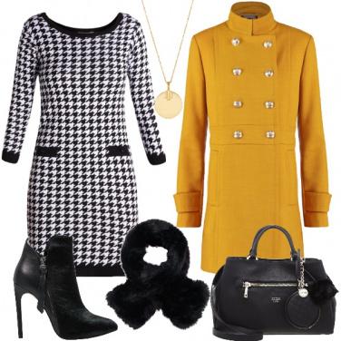 Outfit Momenti in pied de poule