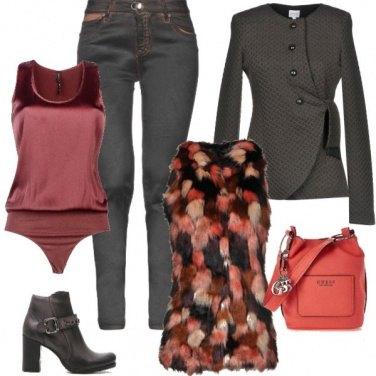 Outfit Ecopelliccia gilet