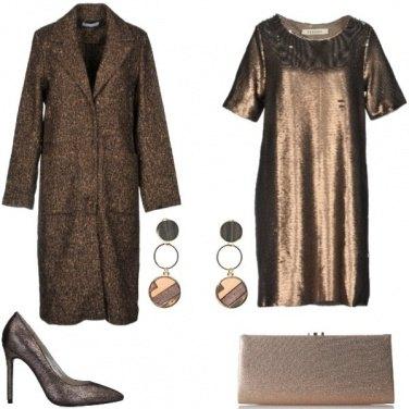 Outfit Alla festa con colori caldi