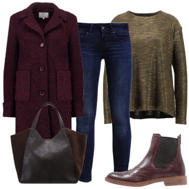 Outfit Eccezione in bordeaux