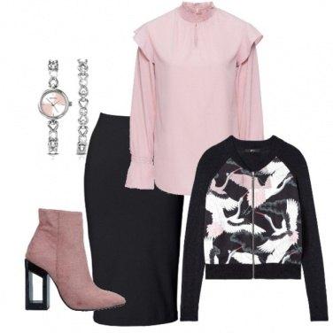 Outfit Con la gonna longuette
