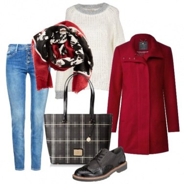 Outfit Cappottino rosso
