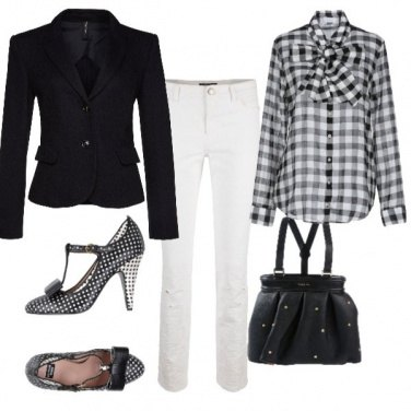 Outfit Black and a white