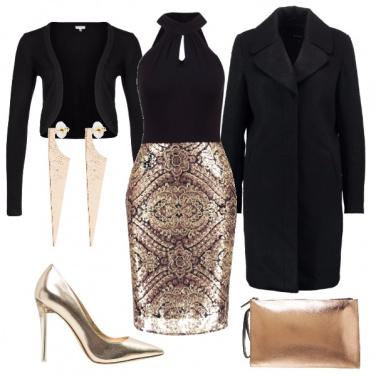 Outfit D\'oro vestita