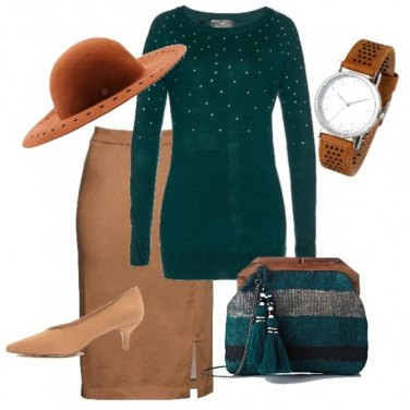 Outfit Longuette classica col verde