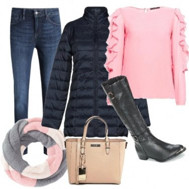 Outfit Jeans e stivale basso