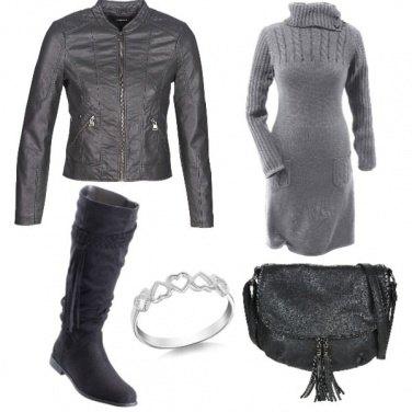 Outfit Intrecci, nappine, cuori...