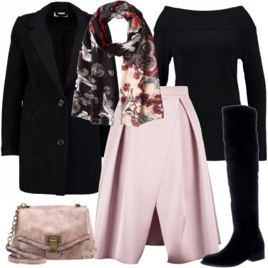 Outfit Rosa e nero