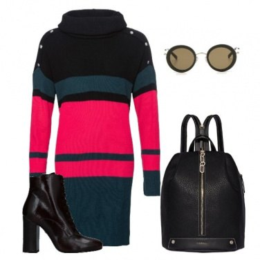 Outfit Color block dress