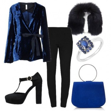 Outfit Opéra blue